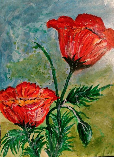 best painting saatchi art beautiful flowers in nature painting by