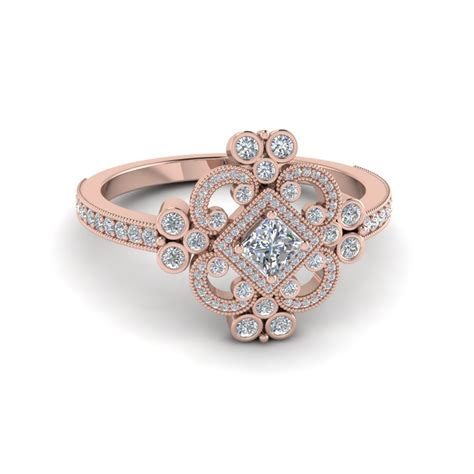 rose gold edwardian rose gold engagement rings www pixshark com