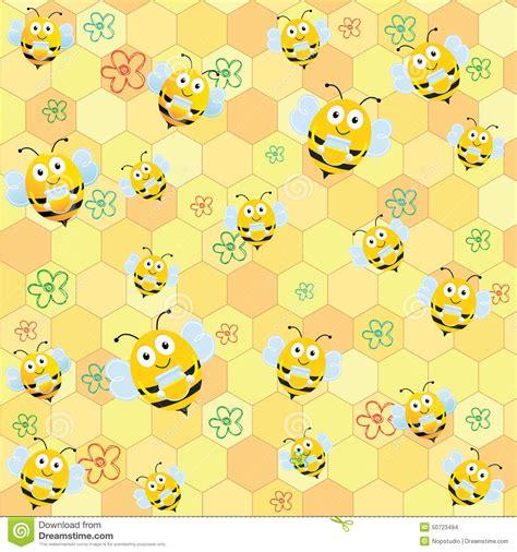cute honeycomb pattern bee pattern stock illustration image 50723494
