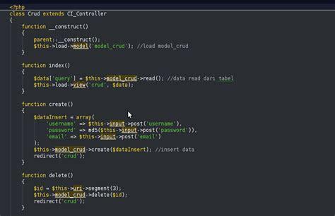 membuat database codeigniter codeigniter coretan hamba copo