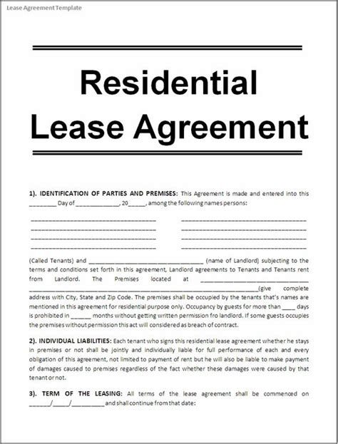 printable real estate lease agreement printable sle free lease agreement template form real