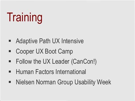 ux circuit training delivered  fluxible