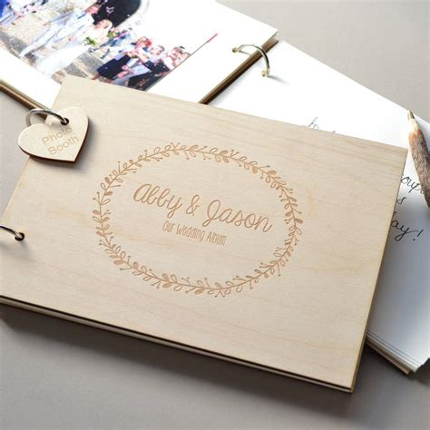 wedding guest book layout sle personalised wreath wedding guest book by clouds and