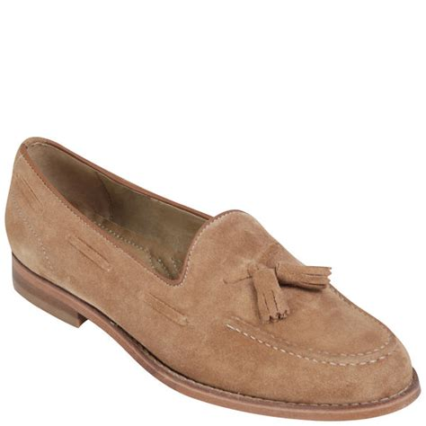 womens suede loafers h by hudson womens stanford suede loafers in brown for