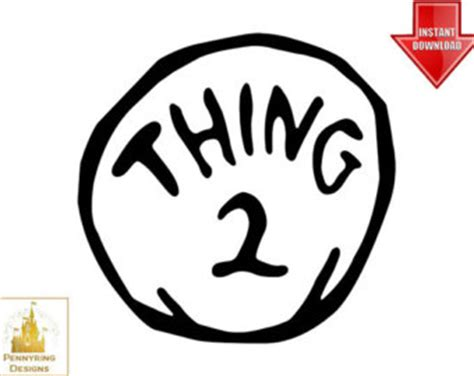 thing 1 and thing 2 printable template popular items for logo clip on etsy