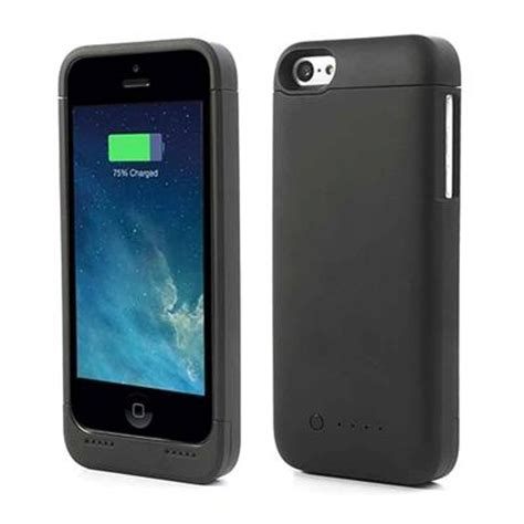 fundas para bateria funda con bater 237 a externa para iphone 5 5s 5c negro