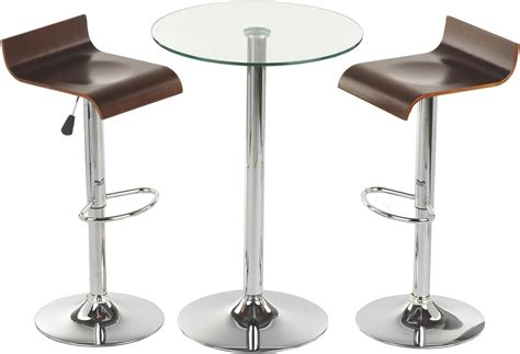 round high glass top bar table and minimalist adjustable