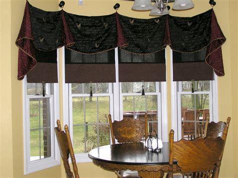 Curtains For Bathroom Window Ideas by Concerting Wooden Dining Table In Window Treatment Ideas