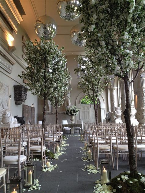 Weddings, blossom trees, ceremony decoration, Aynho Park