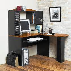 Mainstays L Shaped Computer Desk Black Black Cherry L Shaped Desk With Hutch Walmart