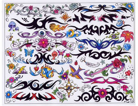Tattoo Flash Art Sheets | tattoo flash sheets line art color blackwhite full sheets