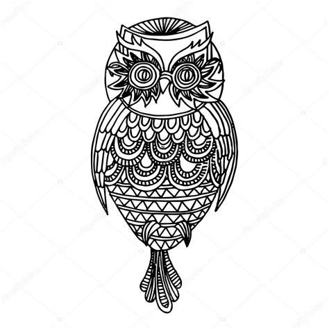 imagenes en blanco y negro de buhos ilustraci 243 n de b 250 ho vector de stock 169 zelena 25858007