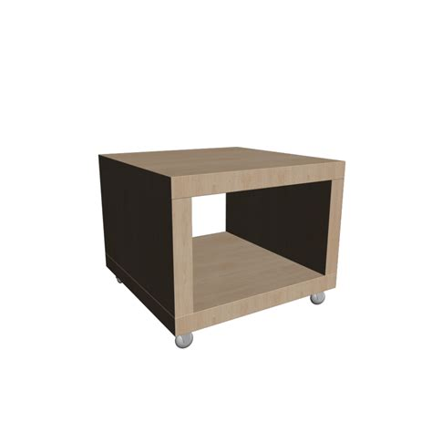 Ikea Side Table Lack Side Table On Casters Birch Effect Design And Decorate Your Room In 3d