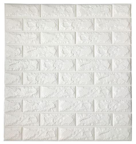 white brick wall wallpaper wall decor peel stick 3d wall panels white 3d brick wallpaper 2 6