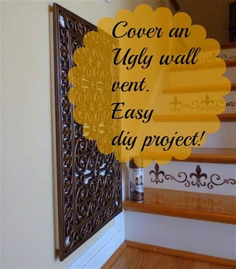 How To Remove Simple Mat From Wall by How To Cover And An Wall Vent With A Rubber Door Mat