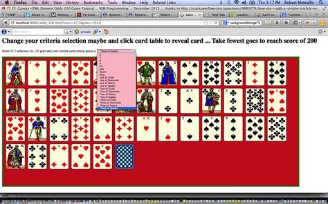 tutorial javascript canvas html javascript canvas card game tutorial robert