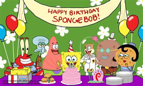 Spongebob Squarepants Birthday Wallpaper spongebob s 30th birthday by swervinmervin on deviantart