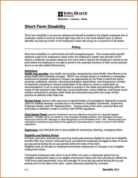 Short Term Disability Appeal Letter Sletemplatess Sletemplatess Term Disability Appeal Letter Template