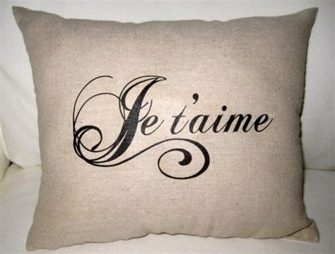 french pillows home decor je t aime french love pillow shabby chic paris inspired