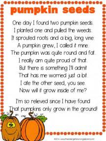 free pumpkin seeds poem the kindergarten smorgasboard - Pumpkin Poems