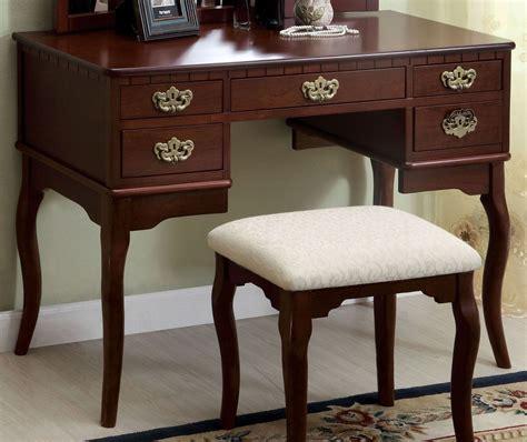Ashland Vanity by Ashland Cherry Vanity Table From Furniture Of America Cm