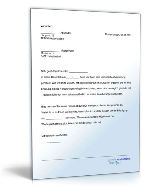 Musterbriefe Entschuldigungsschreiben Geschäftlich Entschuldigung Nicht Eingehaltenes Versprechen Muster