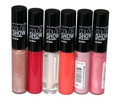 Lipgloss Maybelline 6 x maybelline color show lip gloss rrp 54 6 shades