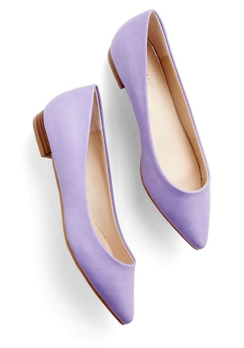 lavender shoes for follow the arrow flat in lavender