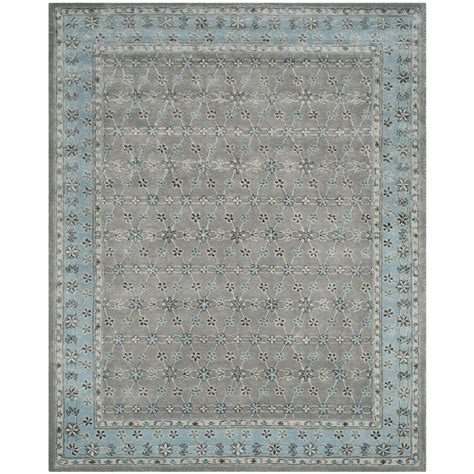 Safavieh Bella Silver Light Blue 8 Ft X 10 Ft Area Rug Blue Area Rug 8 X 10