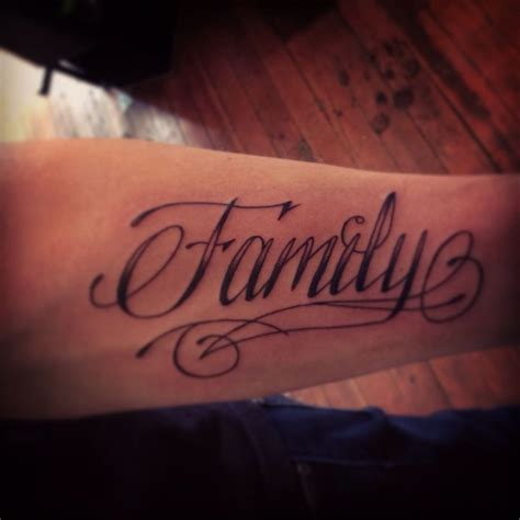 family script tattoo designs my husband s family script