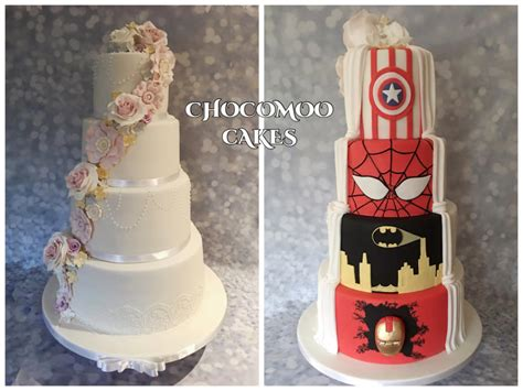 Hochzeitstorte Marvel by Half And Half Wedding Cake Cake By Chocomoo