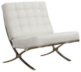 White Accent Chair X Style Waffle Accent Chair Chrome Legs And White Faux Leather Modern Armchairs And Accent