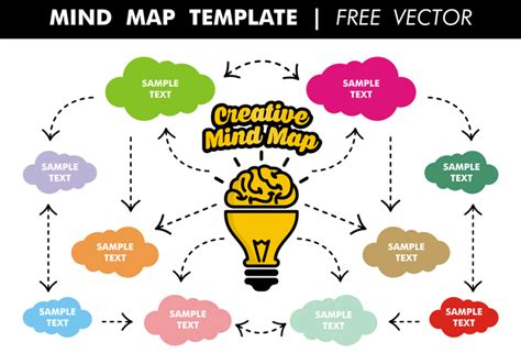 Mind Map Template Free Vector Download Free Vector Art Stock Graphics Images Mind Map Template