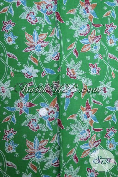 Pakaian Wanita Murmer Second batik kain bahan pakaian pria dan wanita motif terkini batik print warna hijau halus harga