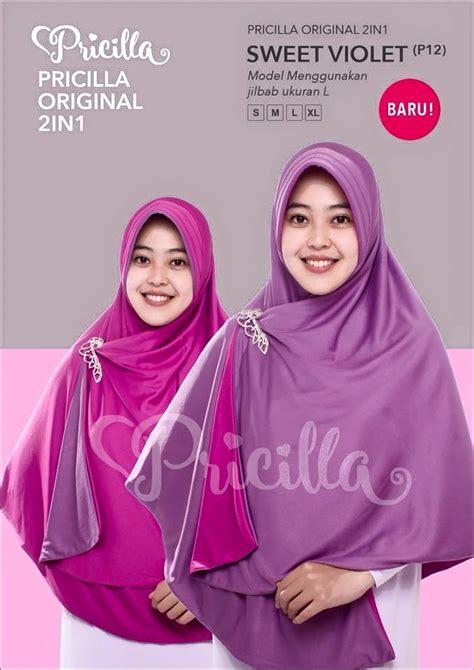 New Jilbab Pricilla 2 In 1 Bolak Balik Size S Murah Meriah jilbab bolak balik pricilla sweet violet