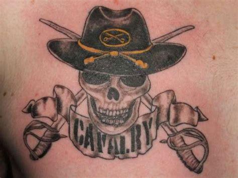 cavalry tattoo calvary skull