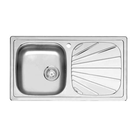 Single Bowl Kitchen Sink With Drainer Reginox Beta 10 1 0 Bowl Kitchen Sink Sinks Taps