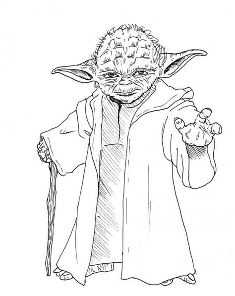 coloring page yoda star wars yoda coloring pages