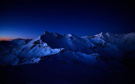 by night the mountain mountains nature night scenic skyscapes snow stars su