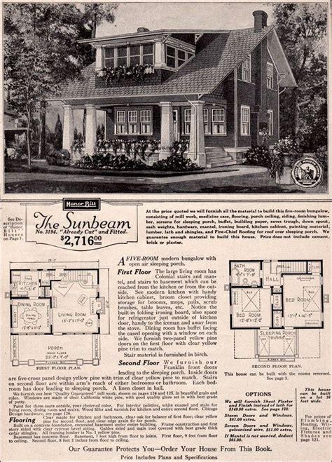 1923 sears roebuck modern homes sunbeam the sunbeam plan