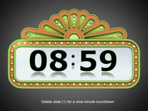 Countdown Timer A Powerpoint Template From Presentermedia Com Countdown Timer For Ppt