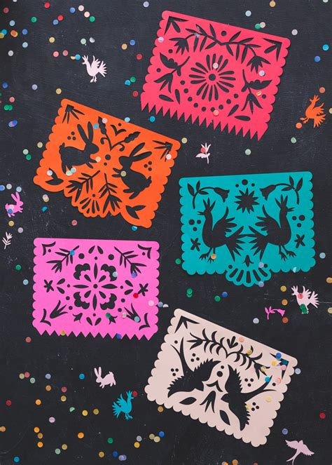 papel picado template for kids papel picado template for image collections
