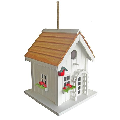 Decorative Bird Houses by Decorative Wood Bird House W Green Trim Outdoor Living