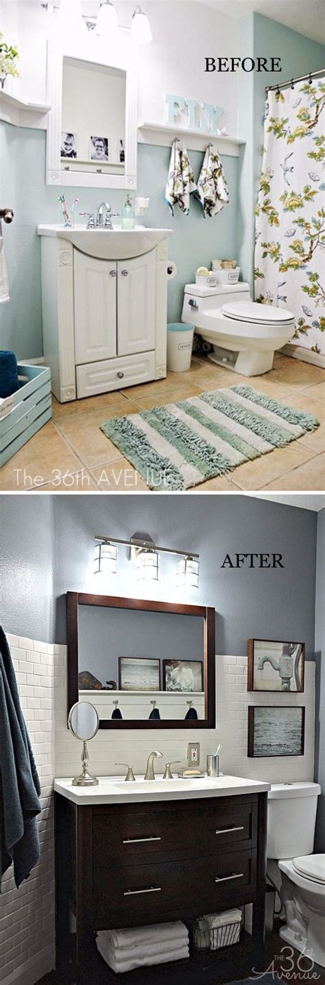 Before And After Bathroom Makeovers On A Budget by Before And After 20 Awesome Bathroom Makeovers Hative