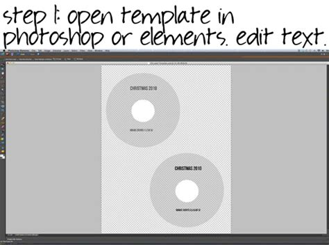 How To Make Simple Dvd Labels And Case Covers With Free Templates Adobe Photoshop Cd Template