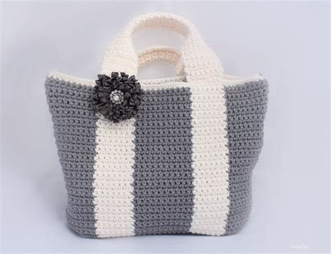 pattern tote bag crochet crochet simple tote bag pattern bicolor bag crochet purse