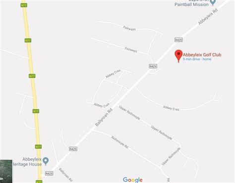 Address Finder Ireland Find Us Abbeyleix Golf Club Est 1895