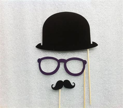 Mustache Decorations by Photo Booth Props Mustache Glasses Birthday