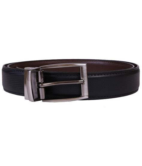 luck black non leather belt buy at low price