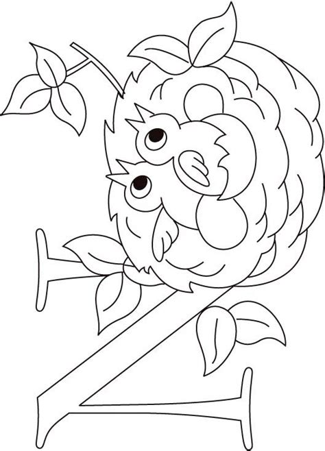 N For Nest Coloring Page For Kids Download Free N For Coloring Pages Free N